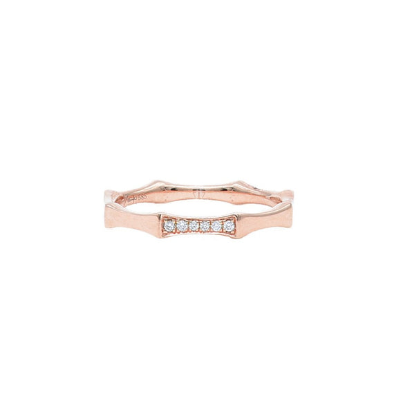 Octagon ring in rose gold