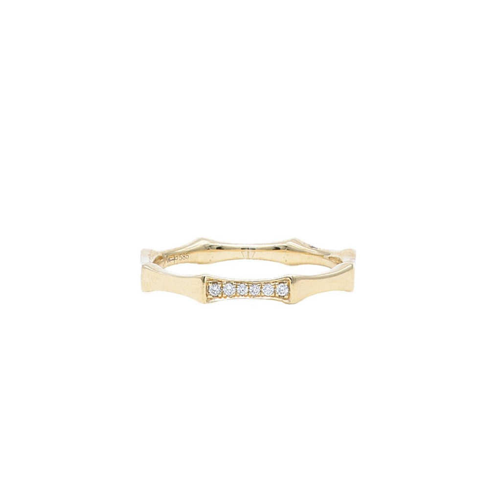 Yellow Gold Octagon Band - Lesley Ann Jewels