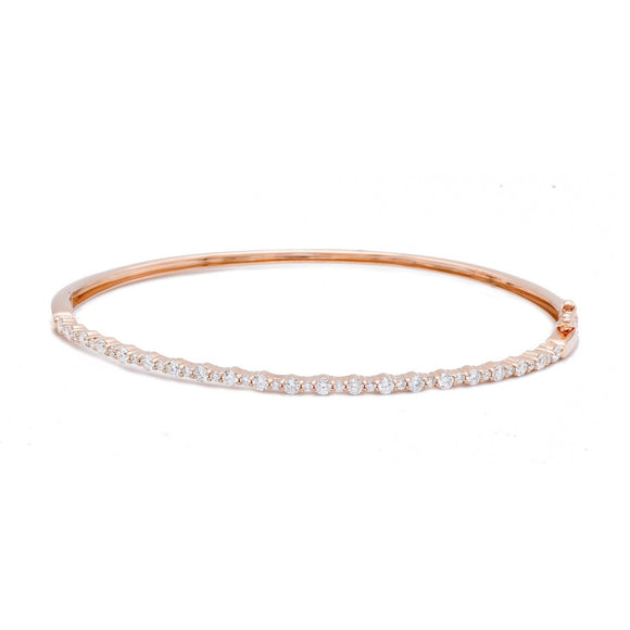 Rose Gold Diamond Bangle - Lesley Ann Jewels