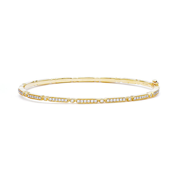 """Melrose"" bangle in yellow gold - Lesley Ann Jewels"