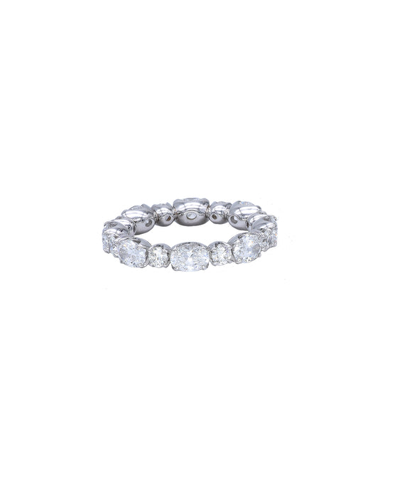 Eternity Band with Oval and Round Diamonds - Lesley Ann Jewels