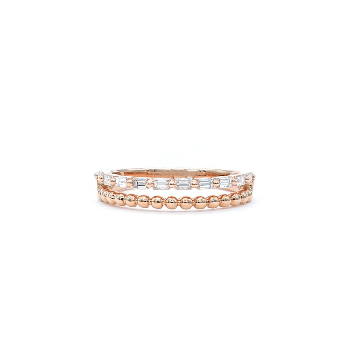 Double band in rose gold