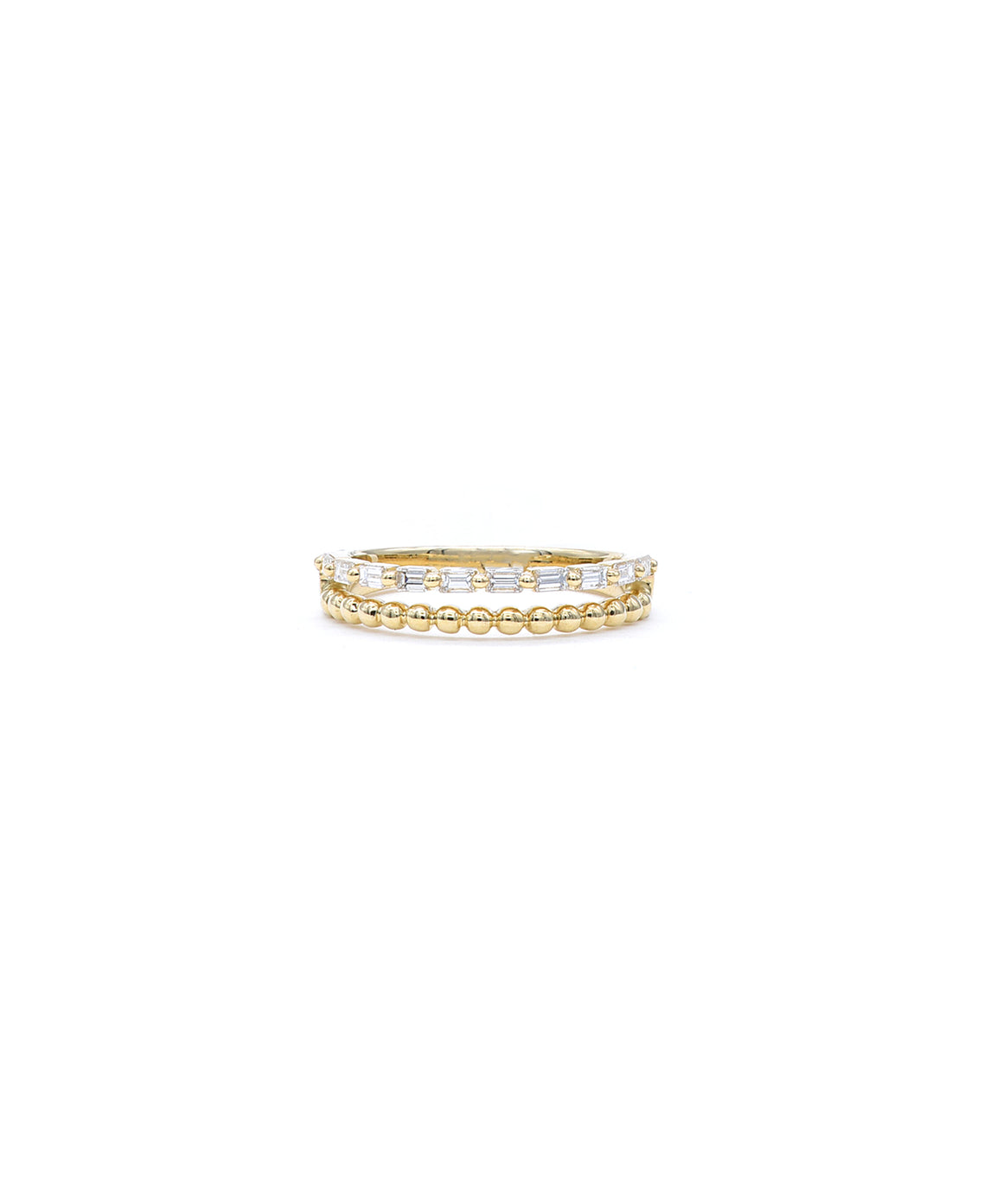 Baguette double band - Lesley Ann Jewels