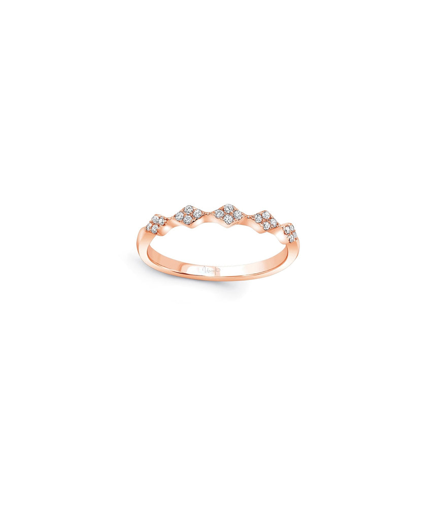Rose Gold Stack Ring - Lesley Ann Jewels