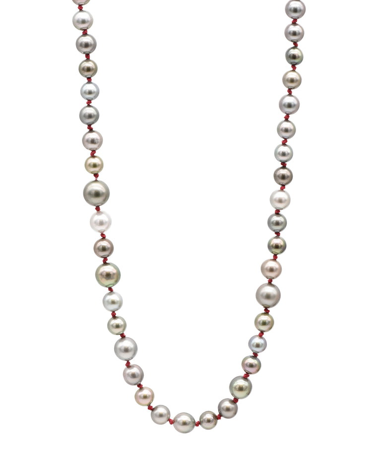 Multi Toned Pearl Necklace