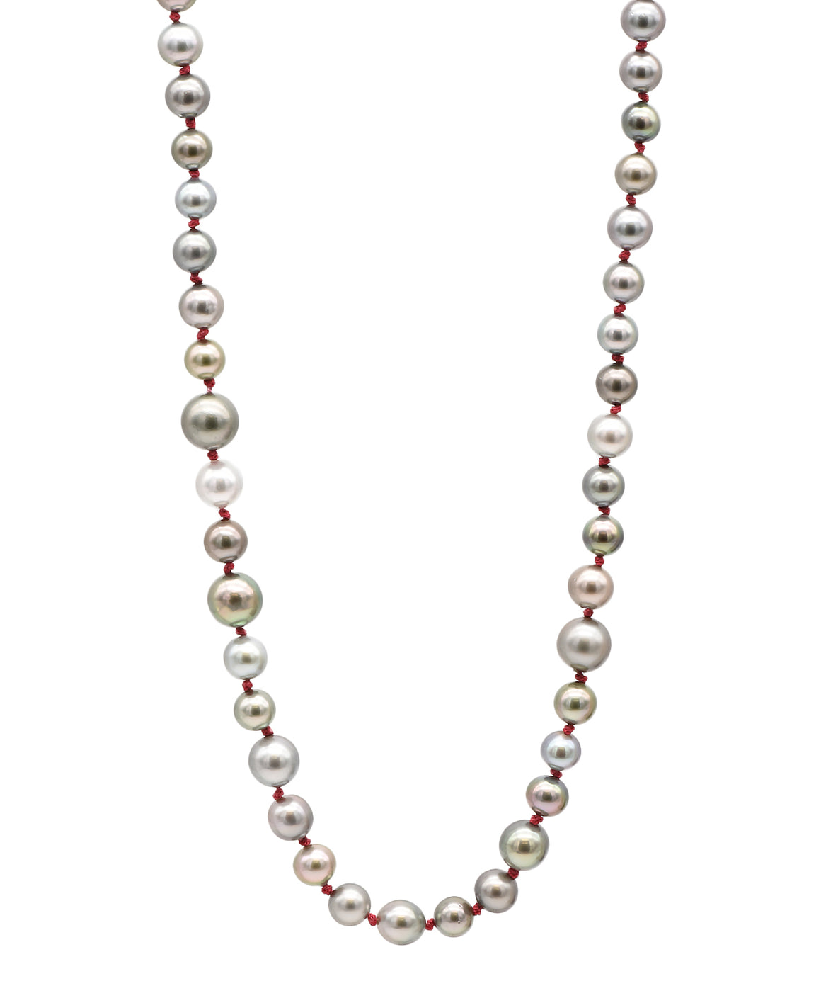 Multi Toned Pearl Necklace - Lesley Ann Jewels