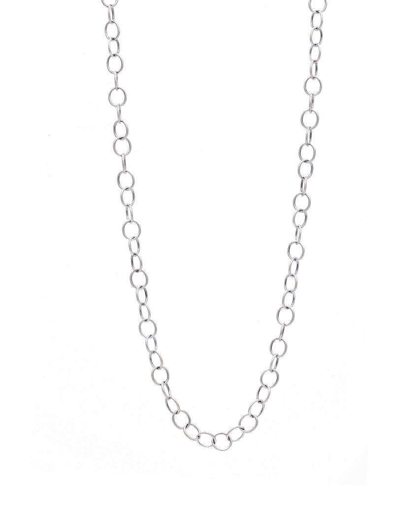 White Gold Link Chain - Lesley Ann Jewels