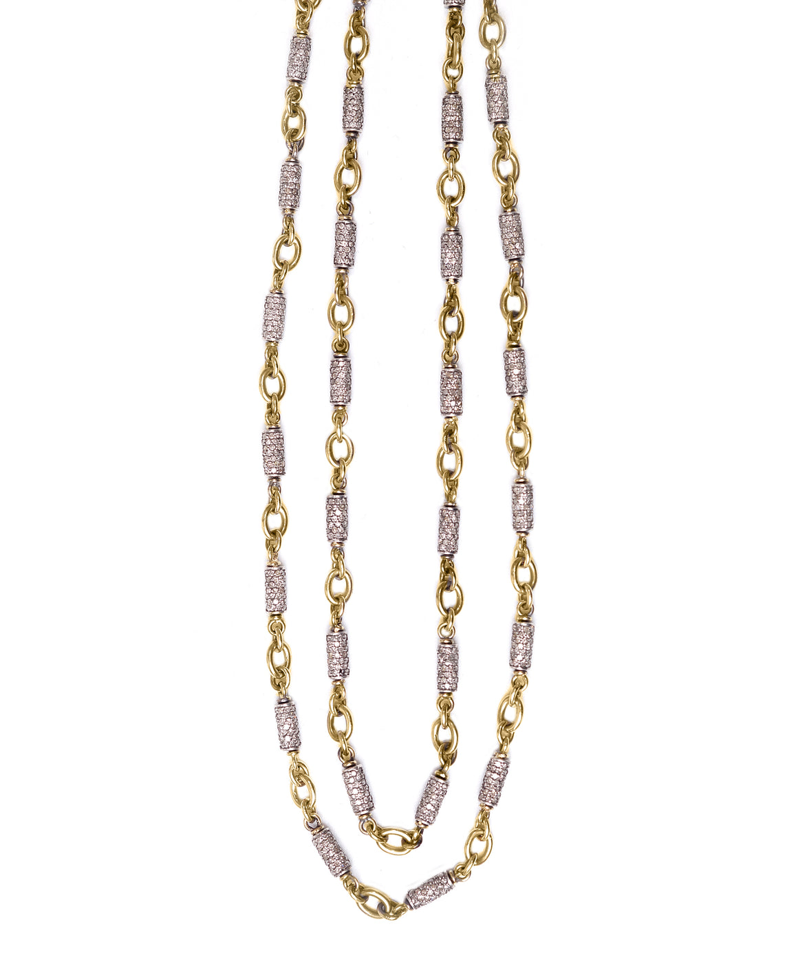 Rose gold diamond bullet chain