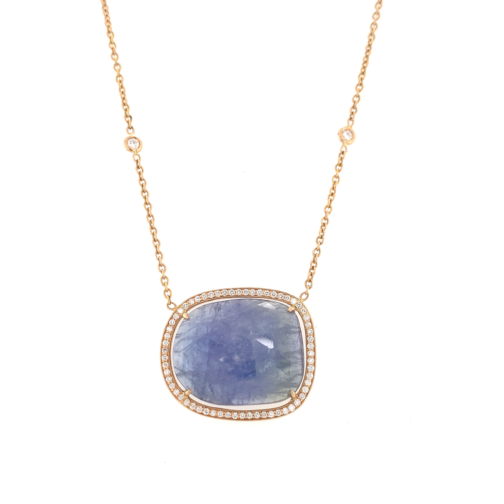 Tanzanite Necklace - Lesley Ann Jewels