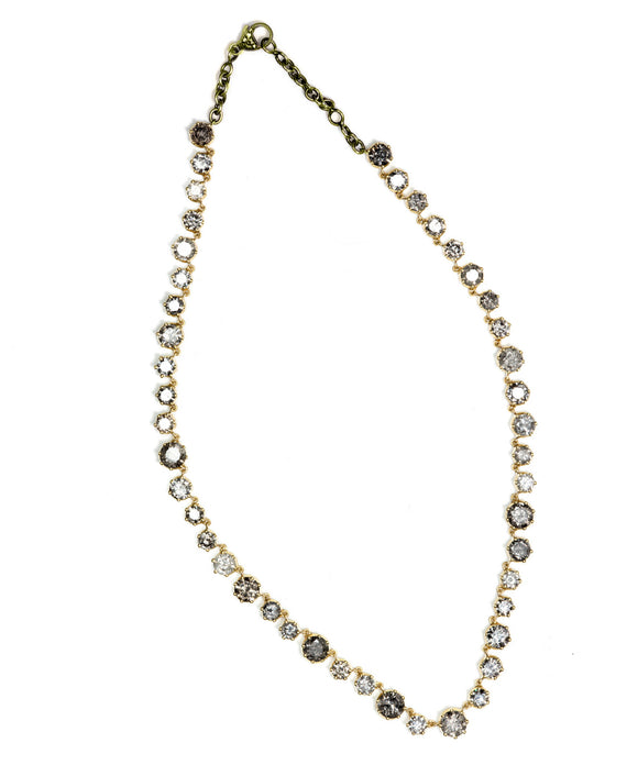 Grey diamond Riviére necklace
