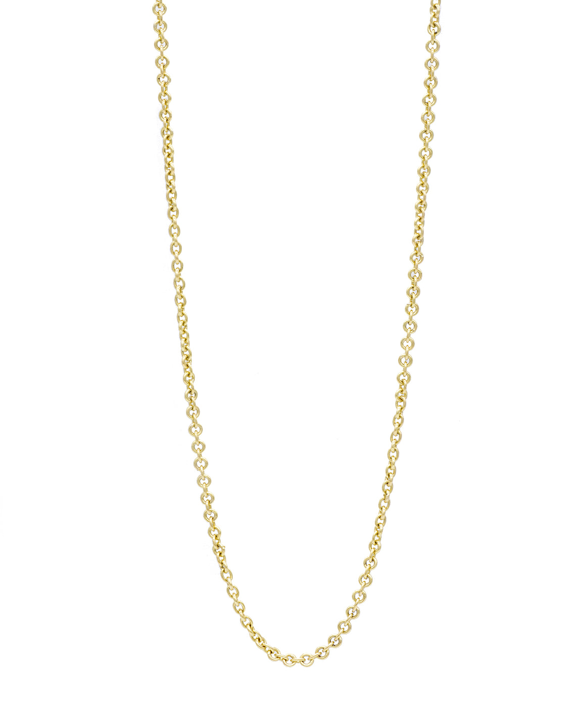 Long Yellow Gold Link Chain - Lesley Ann Jewels