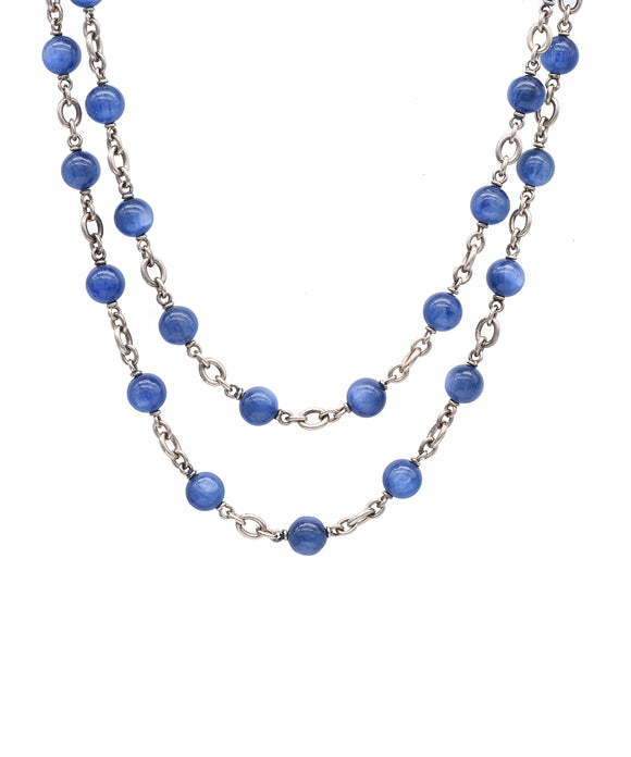 Kyanite Bead Necklace