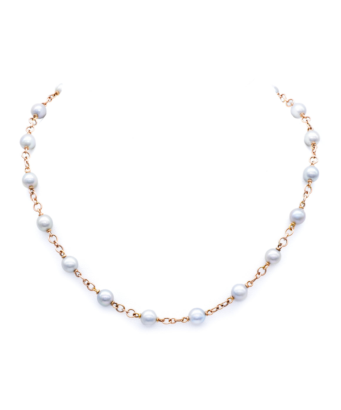 Grey pearl necklace - Lesley Ann Jewels
