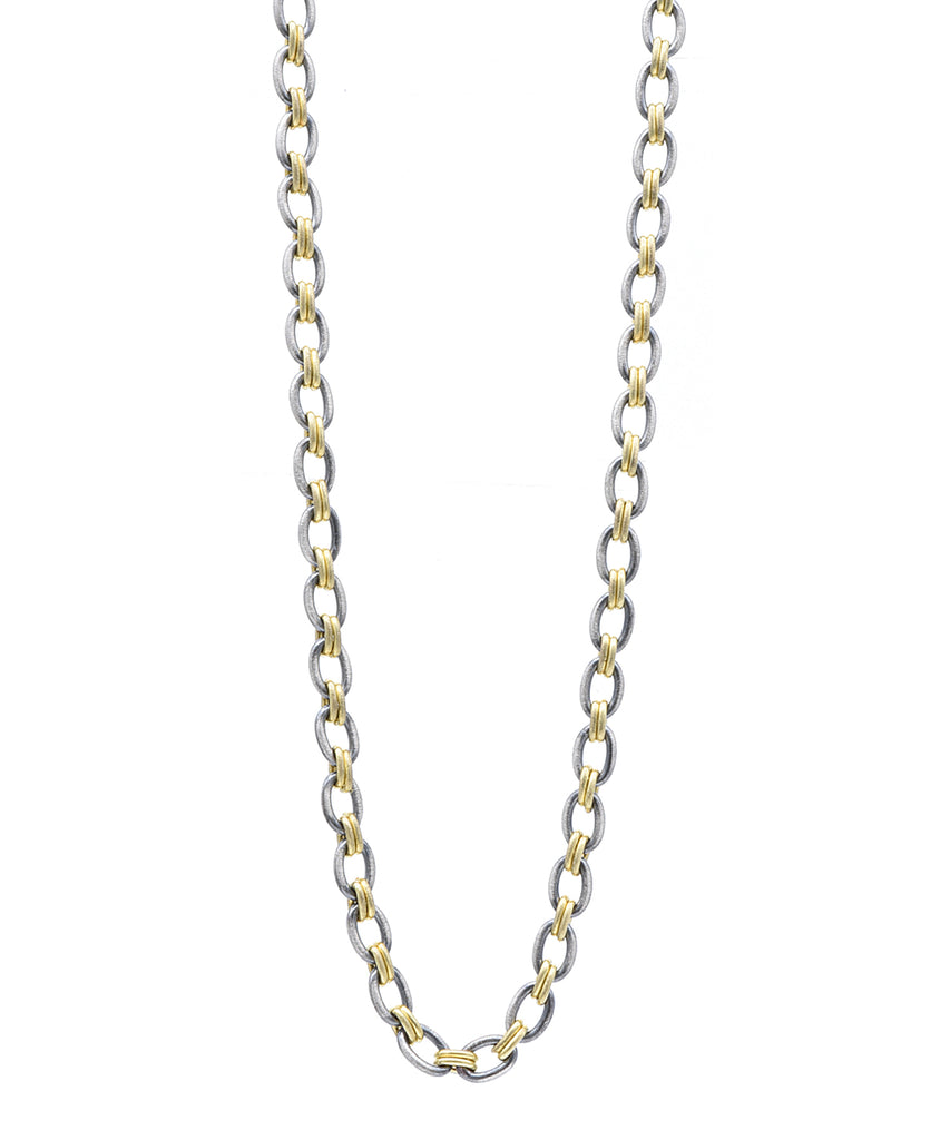 Two Tone Link Chain - Lesley Ann Jewels