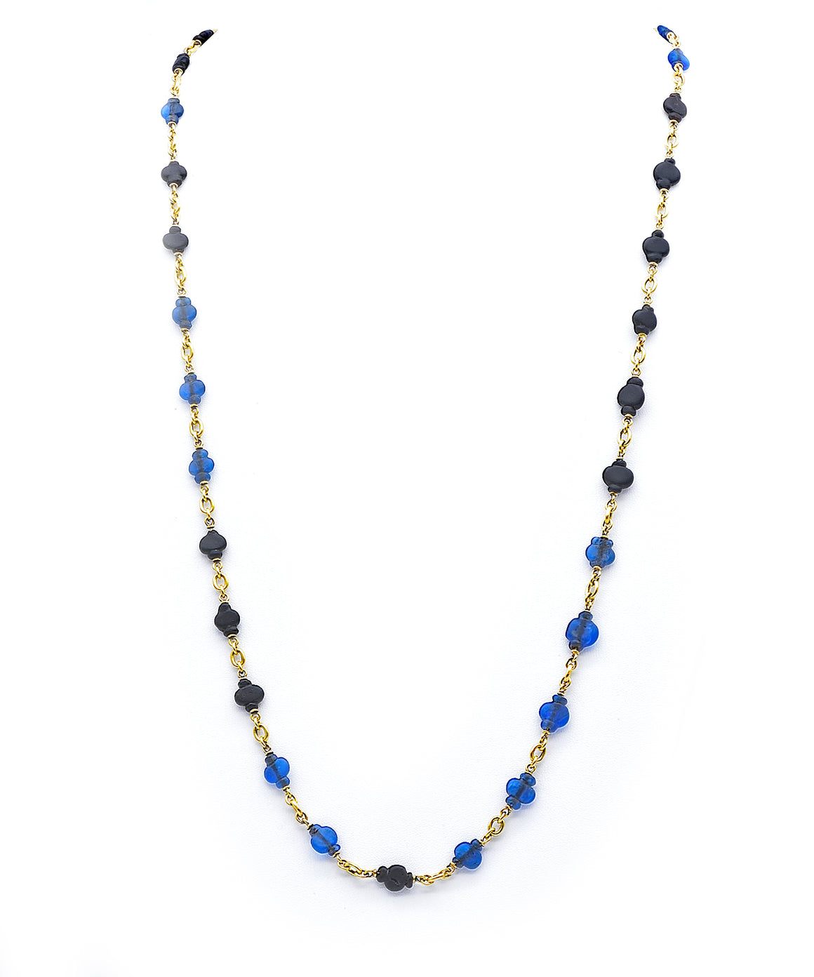 Ancient glass bead necklace - Lesley Ann Jewels