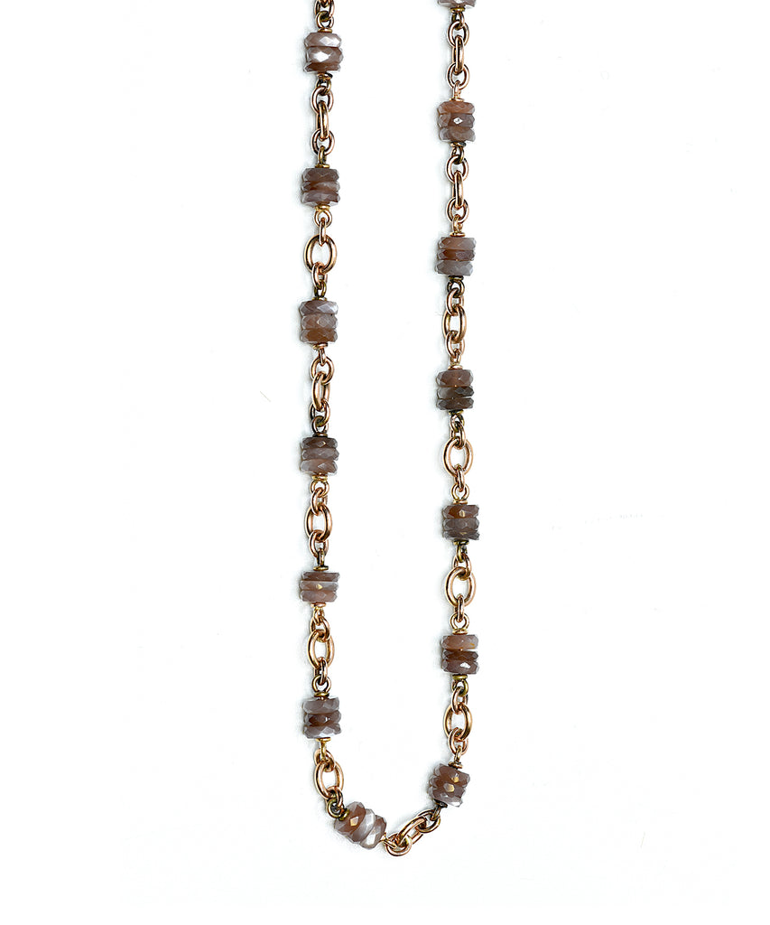 Rutilated Moonstone Necklace - Lesley Ann Jewels