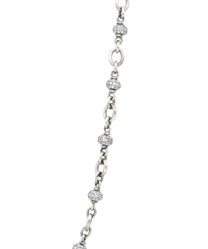 Diamond bead necklace - Lesley Ann Jewels