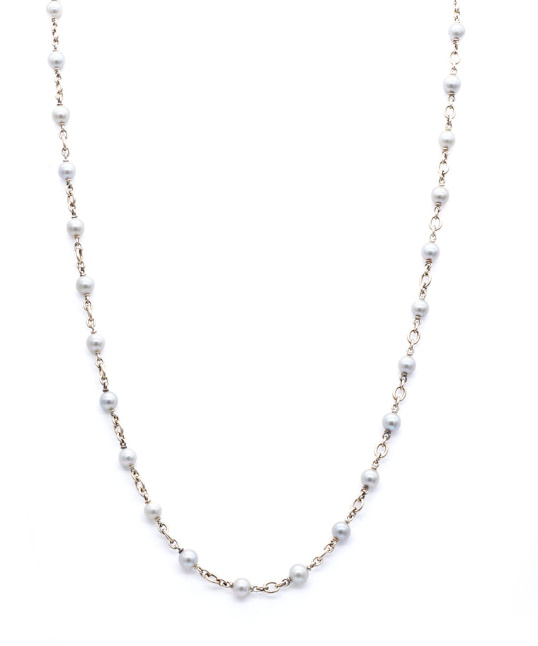 Long Pearl Necklace - Lesley Ann Jewels