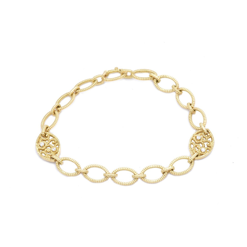 Flower Link Bracelet - Lesley Ann Jewels