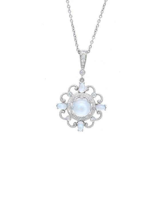 Imperial Enhancer with Moonstones - Lesley Ann Jewels