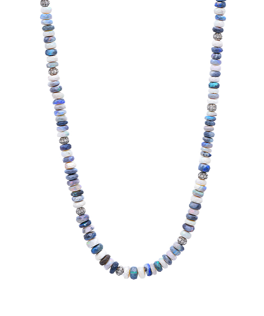 Faceted Opal Bead Necklace - Lesley Ann Jewels