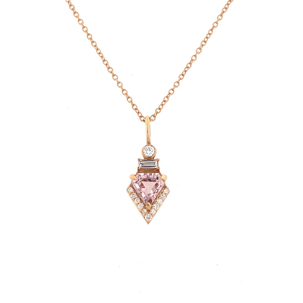 Diamond Shield Pendant - Lesley Ann Jewels