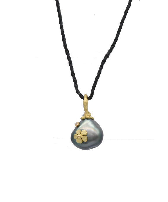 Pear Shaped Pearl Pendant - Lesley Ann Jewels