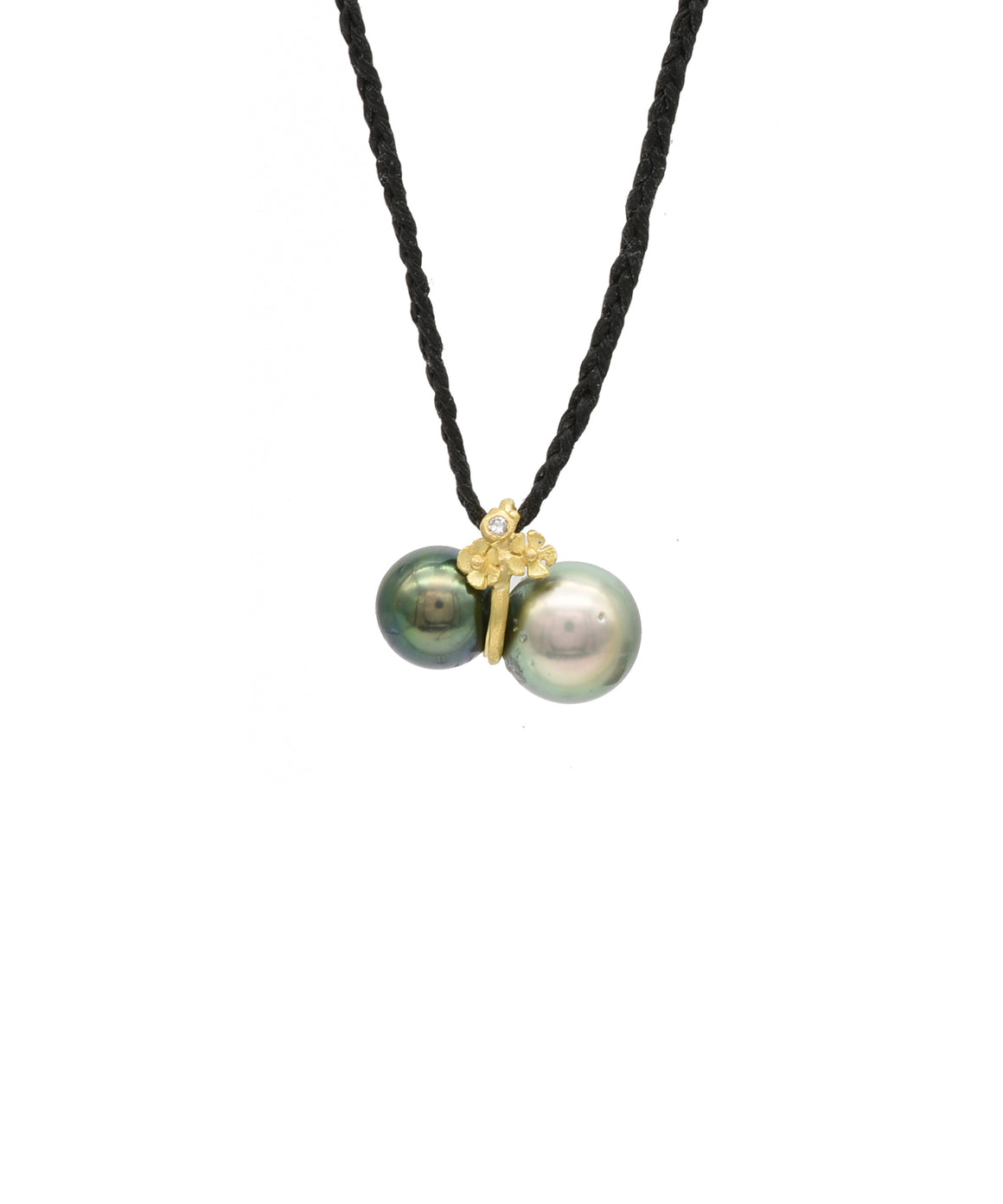 Double Pearl Pendant - Lesley Ann Jewels