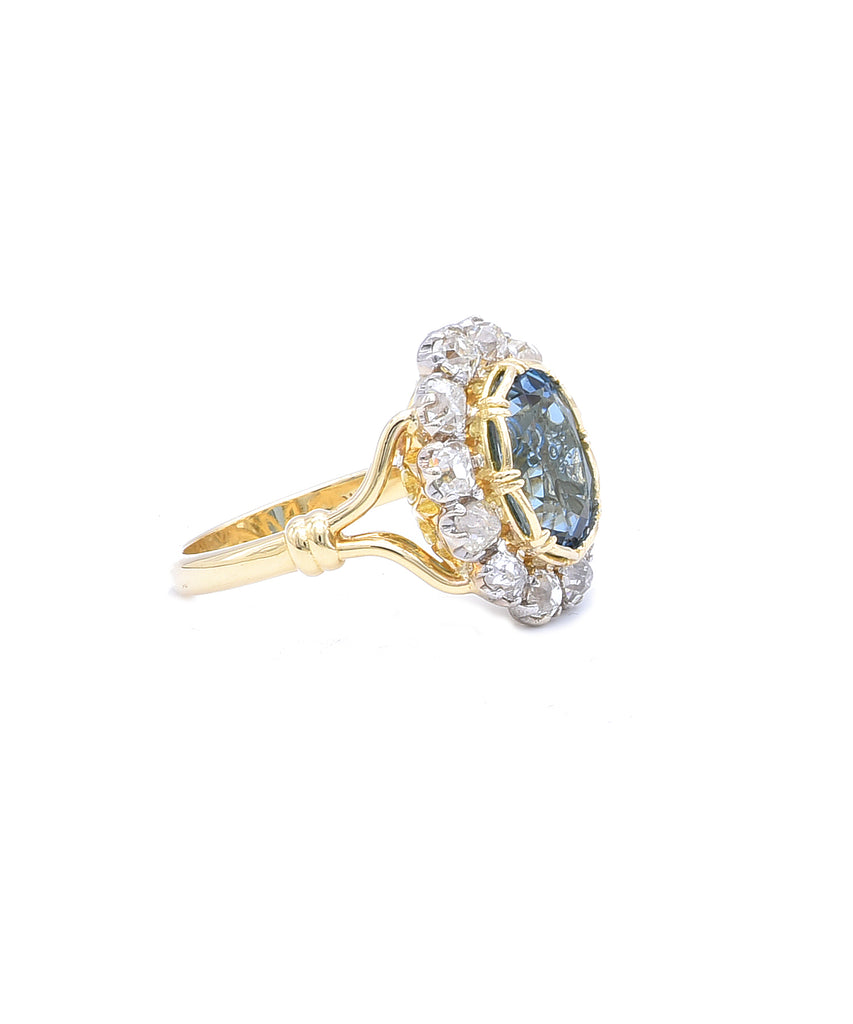 Old Mine Aquamarine Ring - Lesley Ann Jewels