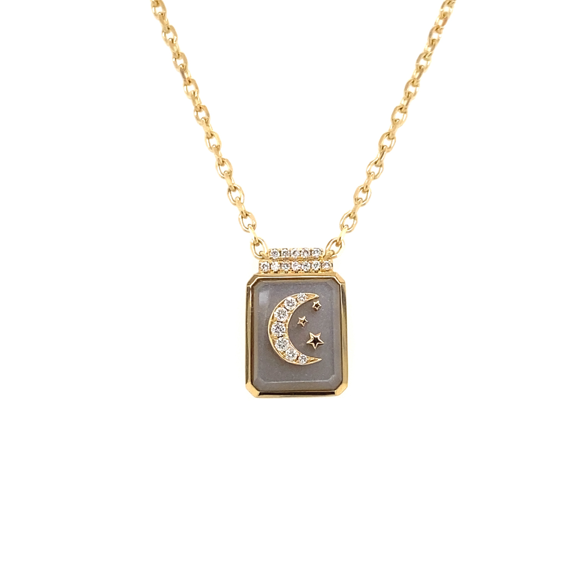 Crescent & Stars on Chain - Lesley Ann Jewels