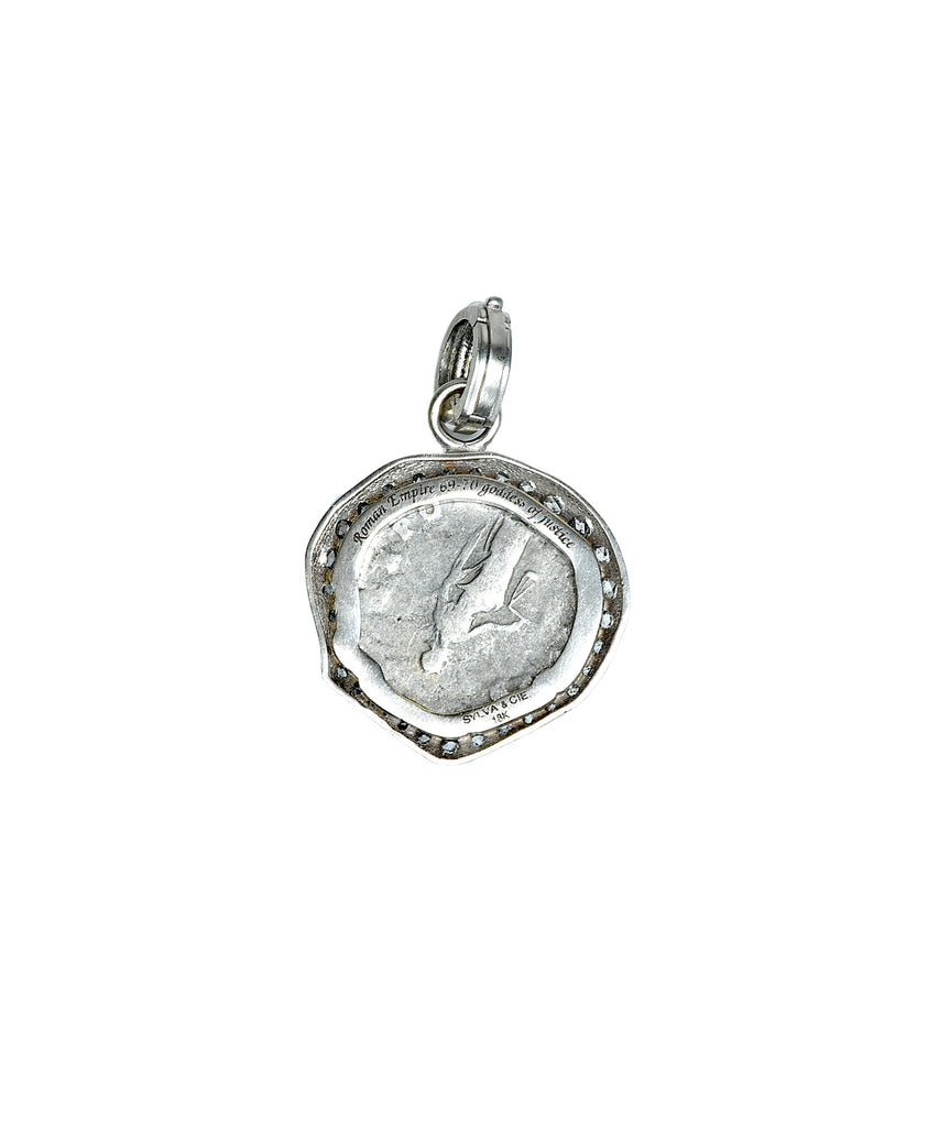 Ancient Roman Justice coin - Lesley Ann Jewels