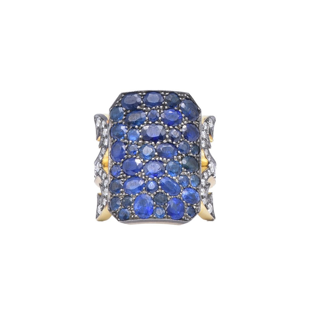 "Sapphire ""Ten Table"" ring"
