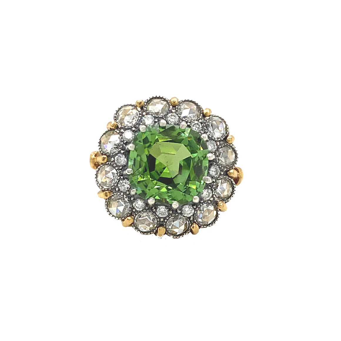 Tourmaline Cupcake Ring - Lesley Ann Jewels