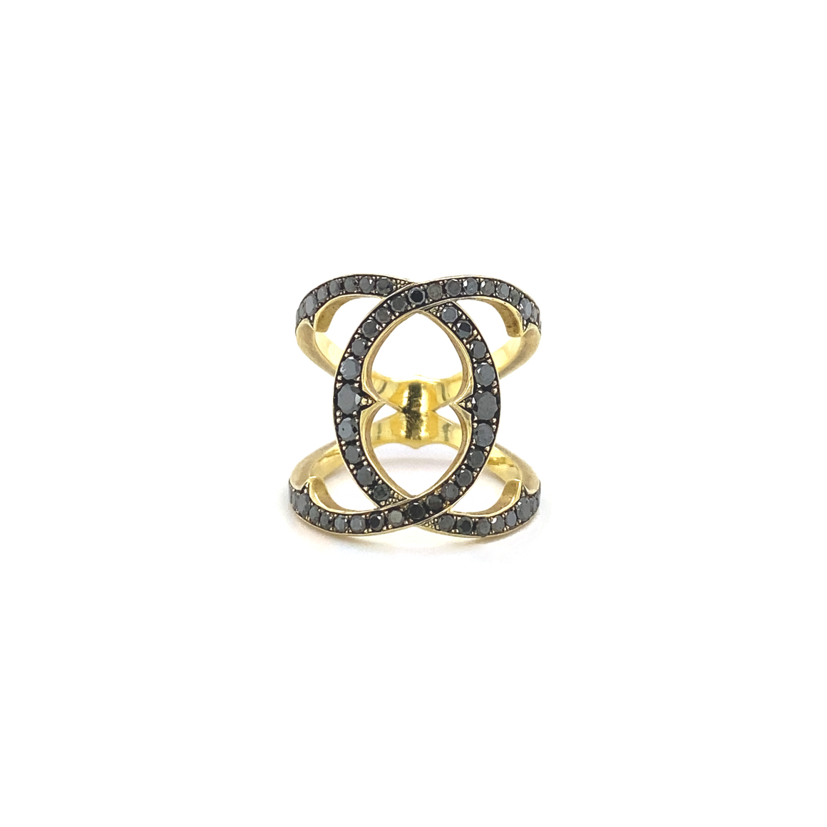Black Diamond Coco Ring - Lesley Ann Jewels