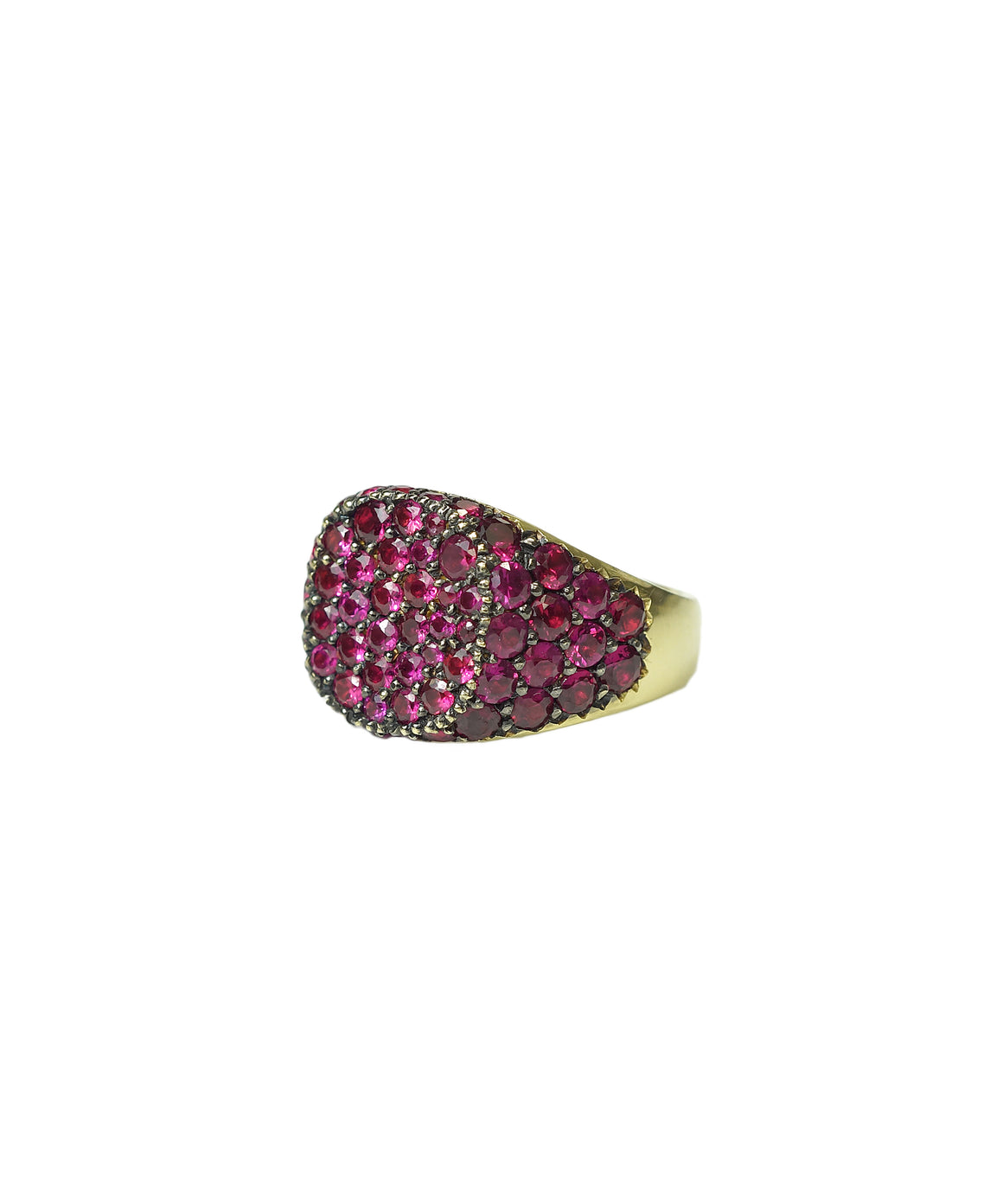 Ruby Signet Ghetto Chick Ring - Lesley Ann Jewels