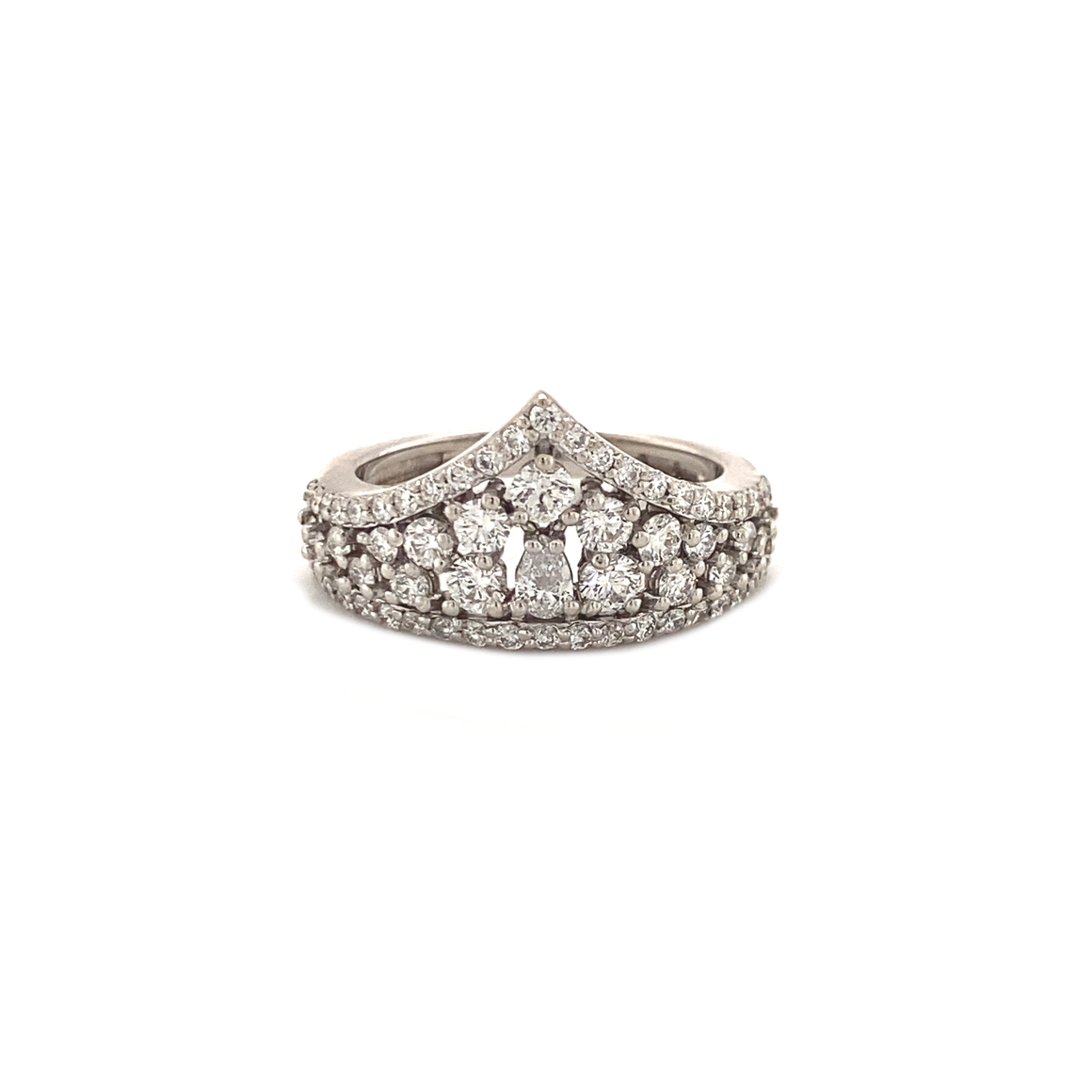 Diamond Cluster Crown Ring