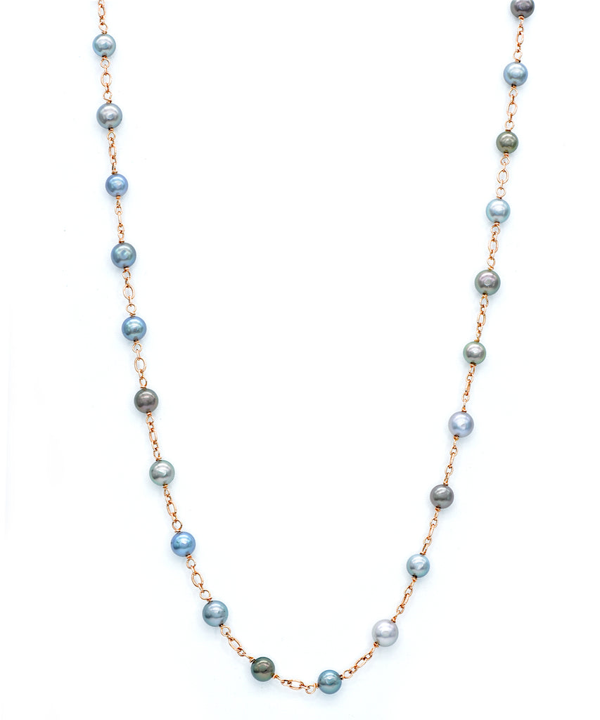 Long Tahitian Pearl Necklace - Lesley Ann Jewels