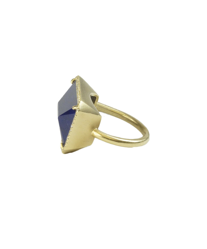 Lapis east-west ring