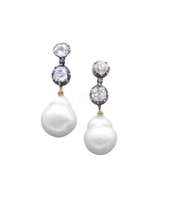 Antique Pearl Drop Earrings
