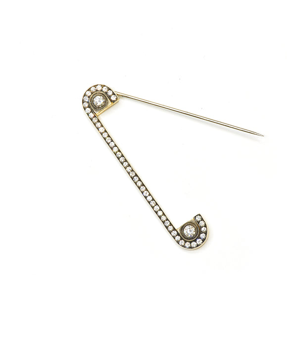 Diamond safety pin