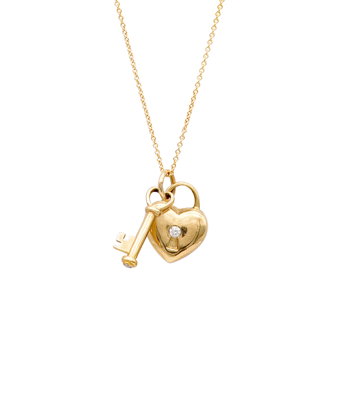 Vintage Key To My Heart Necklace - Lesley Ann Jewels