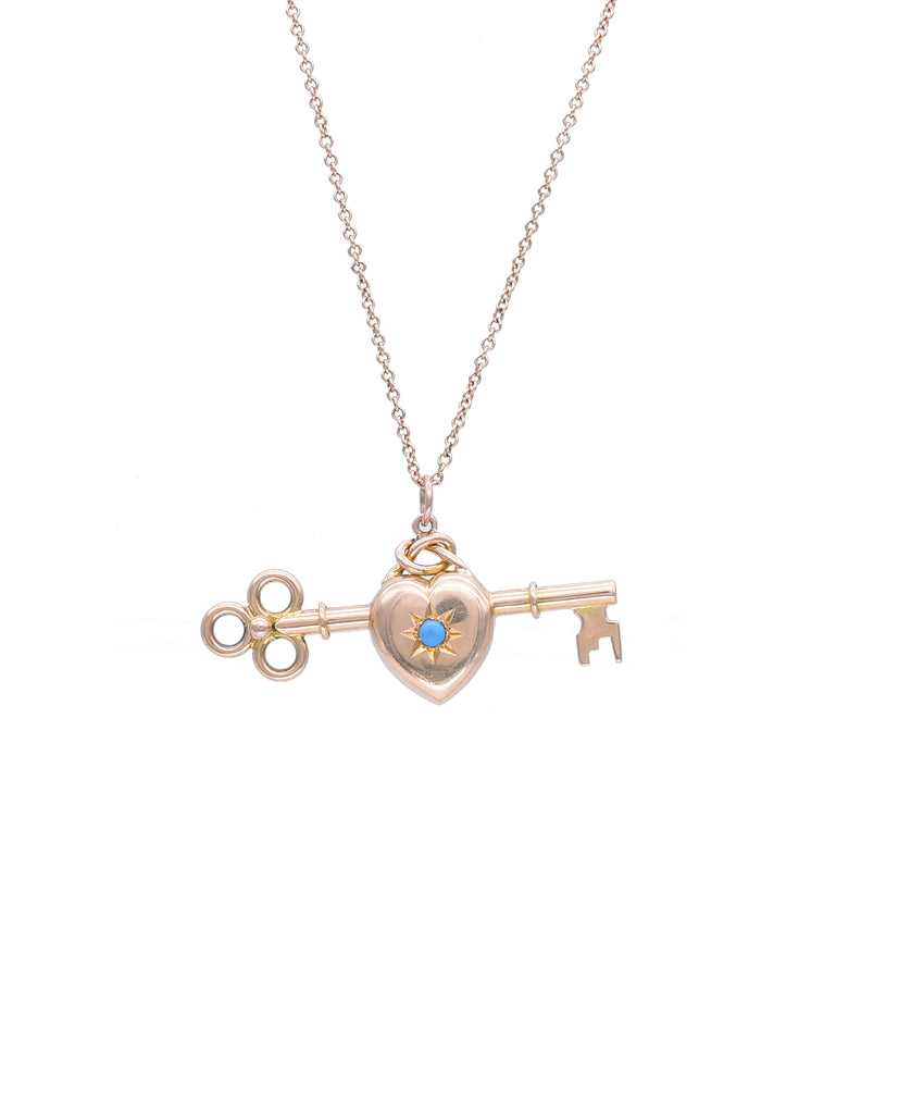 Romantic Rose Gold Vintage Pendant - Lesley Ann Jewels