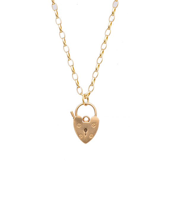 Vintage Heart Padlock Necklace - Lesley Ann Jewels
