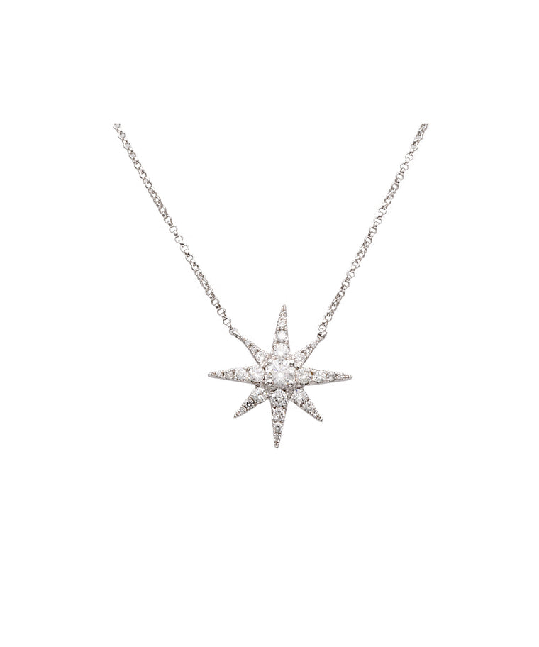 Diamond Star Necklace - Lesley Ann Jewels