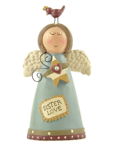 Sister Love Angel With Bird And Star