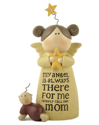 Mom Angel With Baby And Star