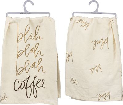 Blah Blah Blah Coffee Dish Towel