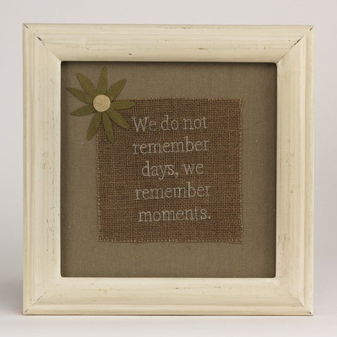 Moments Burlap Stitchery