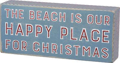 Beach Is Our Happy Place For Christmas Sign