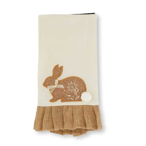 Linen Cottontail Rabbit Dish Towel